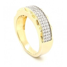 Really Riche Micro Pave Cubic Zirconia Silver Pendant with 14k Gold Plating