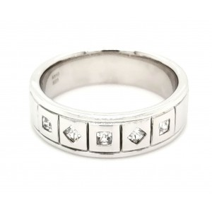 Cubic Zirconia Silver Ring with Rhodium Plating
