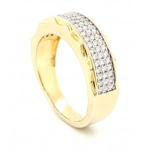 3 Row Micro Pave Cubic...
